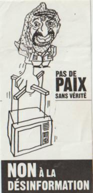 Tract distribué lors de la manifestation